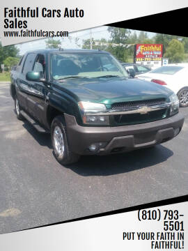 2004 Chevrolet Avalanche for sale at Faithful Cars Auto Sales in North Branch MI