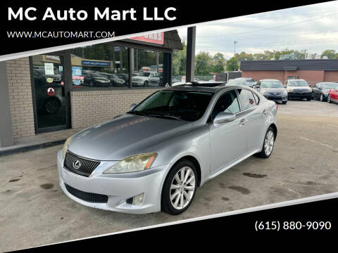 2009 Lexus IS 250 for sale at MC Auto Mart LLC in Hermitage TN