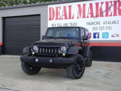 2012 Jeep Wrangler for sale at Deal Maker of Gainesville in Gainesville FL