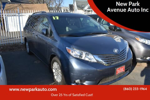 2017 Toyota Sienna for sale at New Park Avenue Auto Inc in Hartford CT