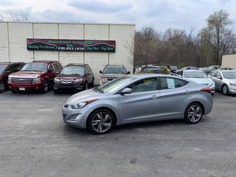 2015 Hyundai Elantra for sale at Boardman Auto Mall in Boardman OH