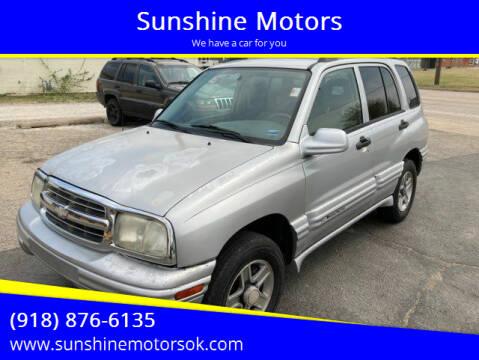 2004 Chevrolet Tracker for sale at Sunshine Motors in Bartlesville OK