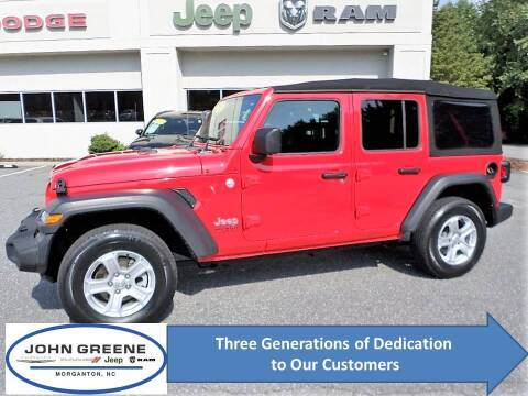 2018 Jeep Wrangler Unlimited for sale at John Greene Chrysler Dodge Jeep Ram in Morganton NC