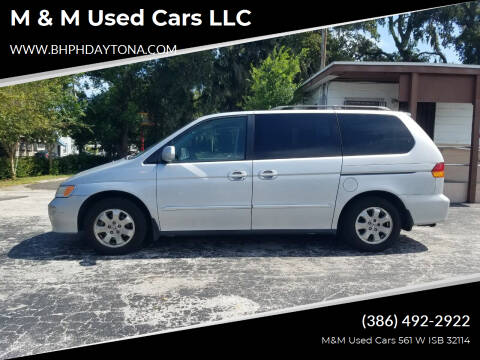 2002 Honda Odyssey for sale at M & M Used Cars LLC in Daytona Beach FL