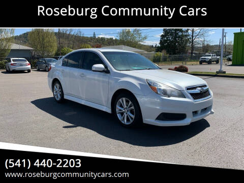 2014 Subaru Legacy for sale at Roseburg Community Cars in Roseburg OR