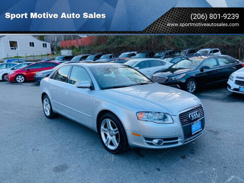 2006 Audi A4 for sale at Sport Motive Auto Sales in Seattle WA