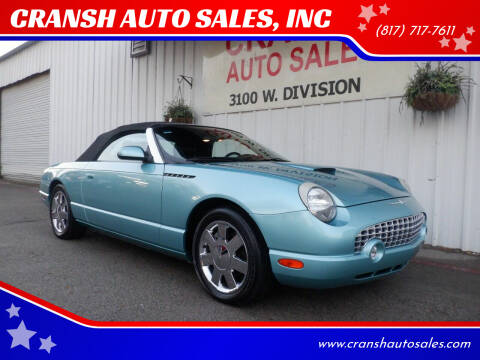 2002 Ford Thunderbird for sale at CRANSH AUTO SALES, INC in Arlington TX