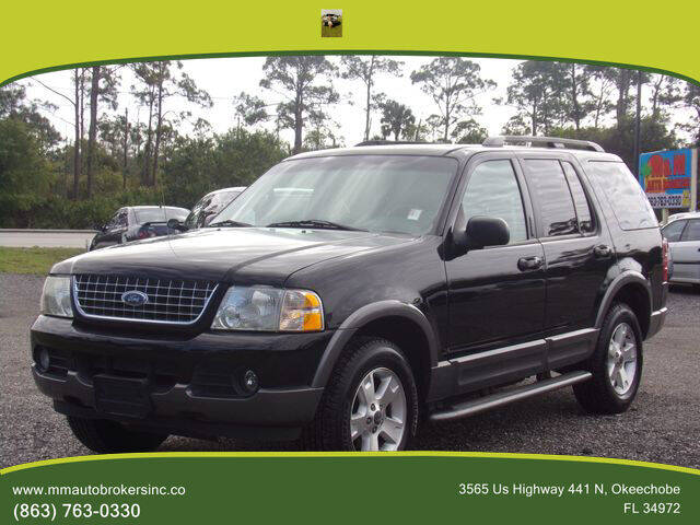2003 Ford Explorer for sale at M & M AUTO BROKERS INC in Okeechobee FL