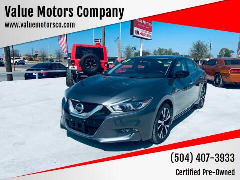 2017 Nissan Maxima for sale at Value Motors Company in Marrero LA