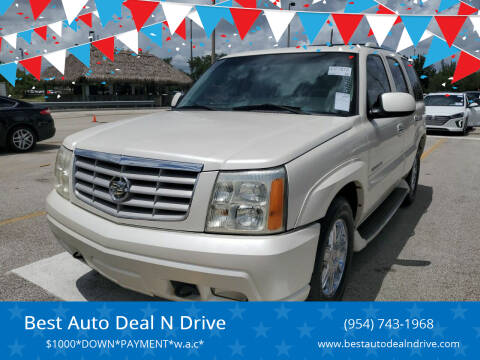 2002 Cadillac Escalade for sale at Best Auto Deal N Drive in Hollywood FL