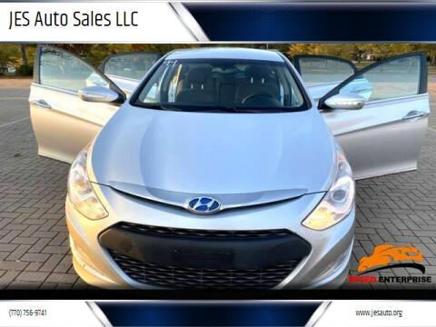 2013 Hyundai Sonata Hybrid for sale at JES Auto Sales LLC in Fairburn GA