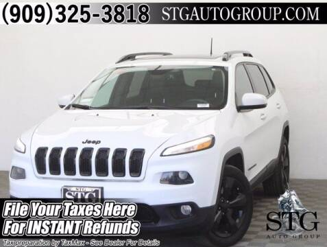 2016 Jeep Cherokee for sale at STG Auto Group in Montclair CA