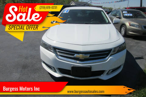 2014 Chevrolet Impala for sale at Burgess Motors Inc in Michigan City IN