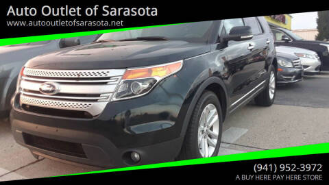 2014 Ford Explorer for sale at Auto Outlet of Sarasota in Sarasota FL