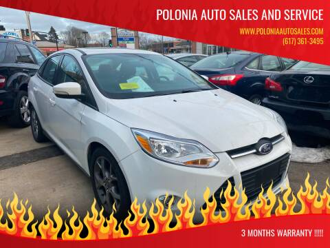 2014 Ford Focus for sale at Polonia Auto Sales and Service in Hyde Park MA