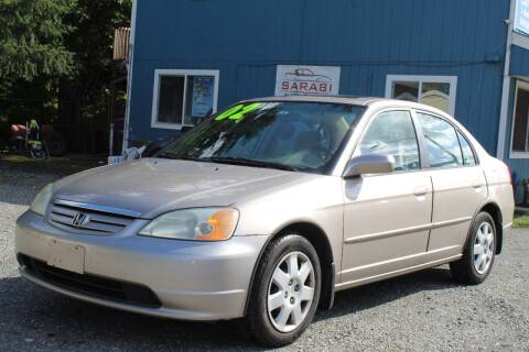 2002 Honda Civic for sale at Sarabi Auto Sale in Puyallup WA