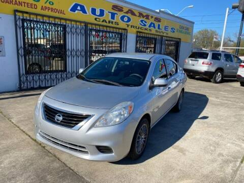 2013 Nissan Versa for sale at Sam's Auto Sales in Houston TX