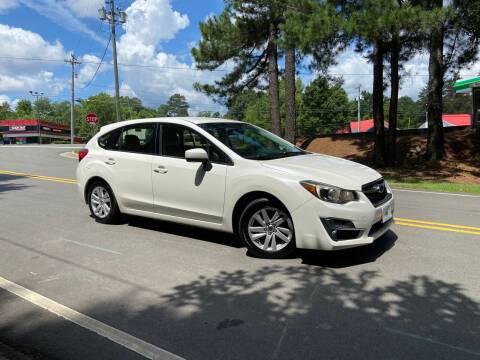 2016 Subaru Impreza for sale at THE AUTO FINDERS in Durham NC