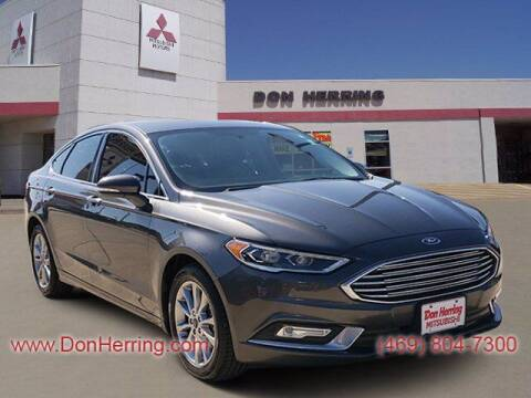 2017 Ford Fusion for sale at DON HERRING MITSUBISHI in Irving TX