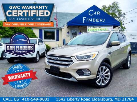 2017 Ford Escape for sale at CAR FINDERS OF MARYLAND LLC - Certified Cars in Eldersburg MD