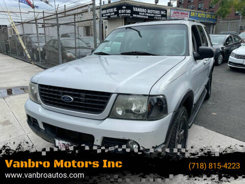 2002 Ford Explorer for sale at Vanbro Motors Inc in Staten Island NY