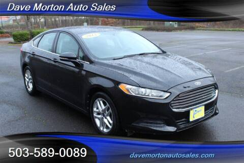 2013 Ford Fusion for sale at Dave Morton Auto Sales in Salem OR