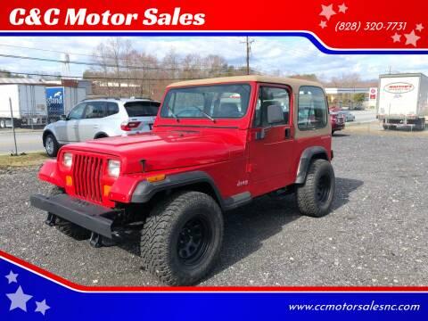 1995 Jeep Wrangler for sale at C&C Motor Sales LLC in Hudson NC