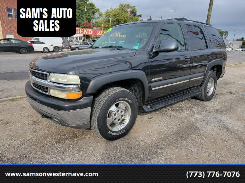2003 Chevrolet Tahoe for sale at SAM'S AUTO SALES in Chicago IL
