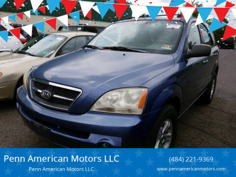 2005 Kia Sorento for sale at Penn American Motors LLC in Allentown PA