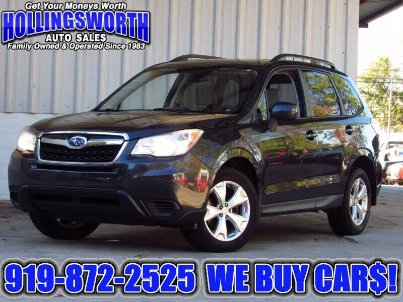 2014 Subaru Forester for sale at Hollingsworth Auto Sales in Raleigh NC