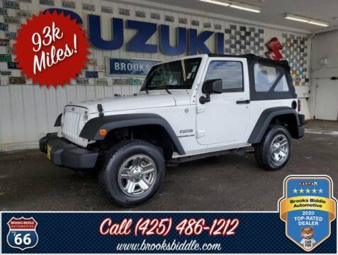 2014 Jeep Wrangler for sale at BROOKS BIDDLE AUTOMOTIVE in Bothell WA