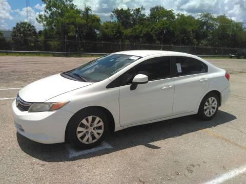 2012 Honda Civic for sale at L G AUTO SALES in Boynton Beach FL