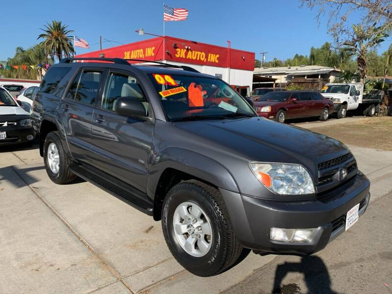 2004 Toyota 4Runner for sale at 3K Auto in Escondido CA