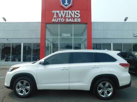 2019 Toyota Highlander for sale at Twins Auto Sales Inc Redford 1 in Redford MI