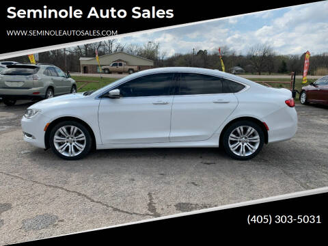 2015 Chrysler 200 for sale at Seminole Auto Sales in Seminole OK