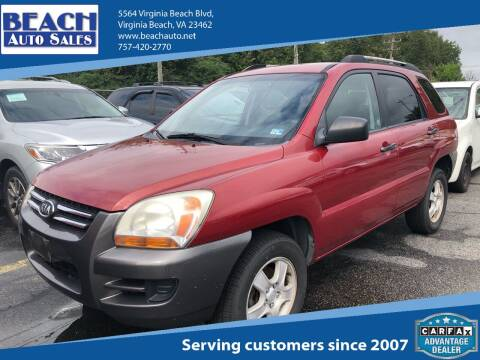 2007 Kia Sportage for sale at Beach Auto Sales in Virginia Beach VA