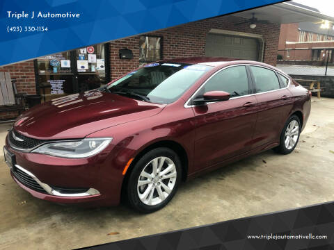 2015 Chrysler 200 for sale at Triple J Automotive in Erwin TN