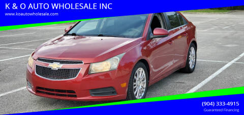 2011 Chevrolet Cruze for sale at K & O AUTO WHOLESALE INC in Jacksonville FL