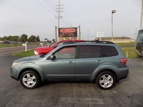 2009 Subaru Forester for sale at MYLENBUSCH AUTO SOURCE in O'Fallon MO