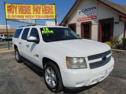 2010 Chevrolet Suburban for sale at Crown Used Cars in Oklahoma City OK