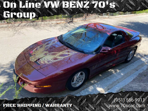 1994 Pontiac Firebird for sale at On Line VW BENZ 70's Group in Warehouse CA