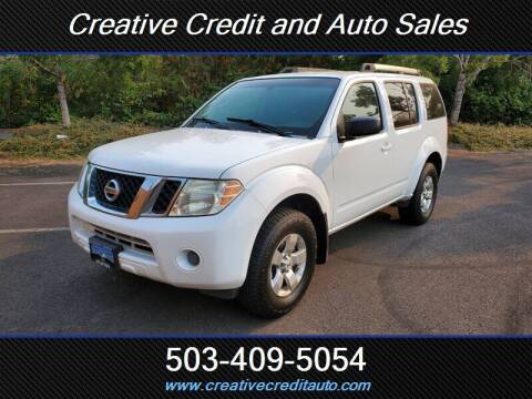2009 Nissan Pathfinder for sale at Creative Credit & Auto Sales in Salem OR