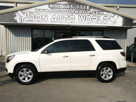 2014 GMC Acadia for sale at Don Auto World in Houston TX