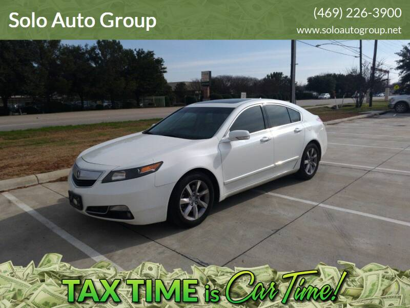 2013 Acura TL for sale at Solo Auto Group in Mckinney TX