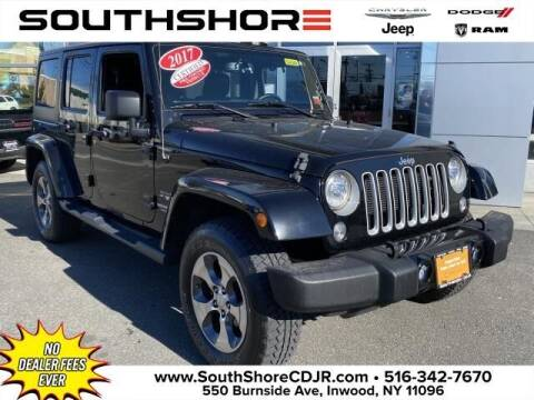 2017 Jeep Wrangler Unlimited for sale at South Shore Chrysler Dodge Jeep Ram in Inwood NY