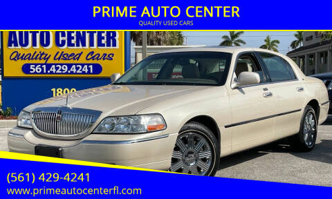 2003 Lincoln Town Car for sale at PRIME AUTO CENTER in Palm Springs FL