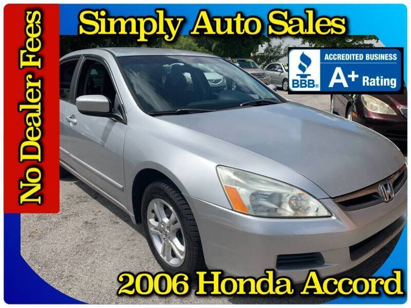 2006 Honda Accord for sale at Simply Auto Sales in Palm Beach Gardens FL