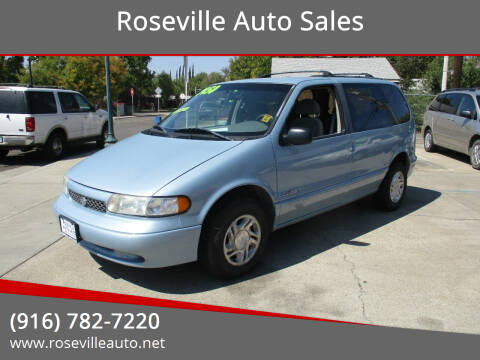 1996 Nissan Quest for sale at Roseville Auto Sales in Roseville CA