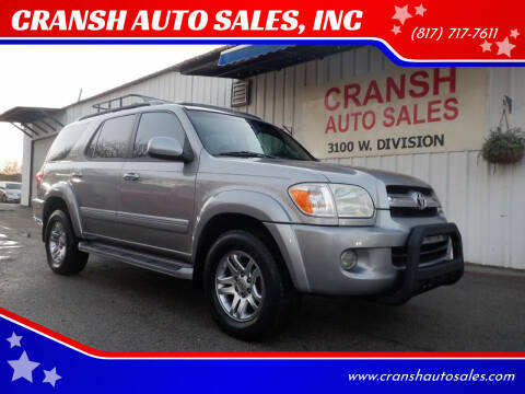 2005 Toyota Sequoia for sale at CRANSH AUTO SALES, INC in Arlington TX