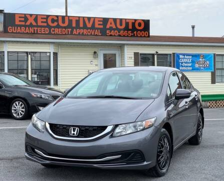 2015 Honda Civic for sale at Executive Auto in Winchester VA
